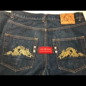 Evisu Jeans - Evisu Indigo Jeans Paris Japan Gold Dragon